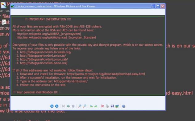 Вымогатель Locky снова активен, но атакует только Windows XP и Vista